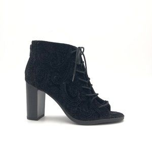 REPORT Lace Up Ankle Bootie Heels #940